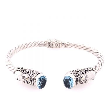 SS/18KT Bali Lucky Elephant BT Bangle