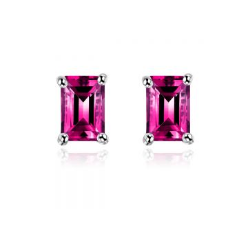 SS Gen 1.50cttw Purple Garnet 6*4 Oct Ear