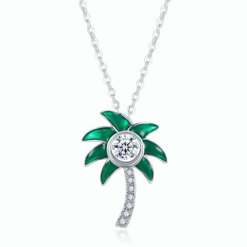 Gems in Motion Palm Tree Pendant