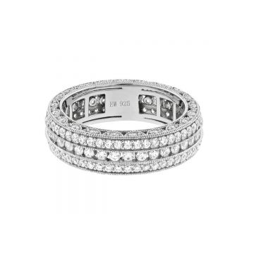 SS Eternity Tread Design Ring