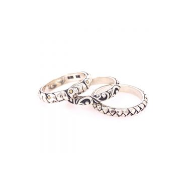 SS/18KT Bali Elephant Tribe Stack Ring