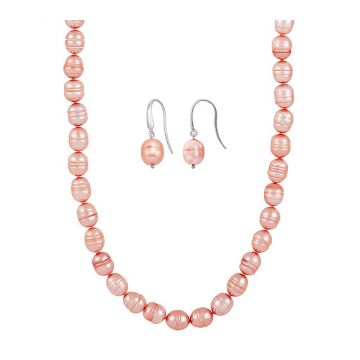 SS Honora Pink Earring & Neck Set