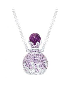 SS Cir Perfume Purp CZ W/ Gen Amy Top on Chn