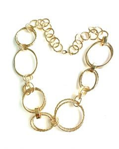18Kt Plated Geometric Ring Necklace