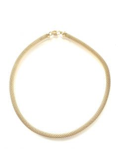 18Kt Plated Round Weave Necklace