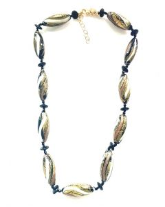 Murano Glass Necklace with 11 Stations