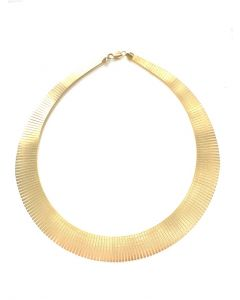 14Kt Plated Graduated Cleopatra Necklace