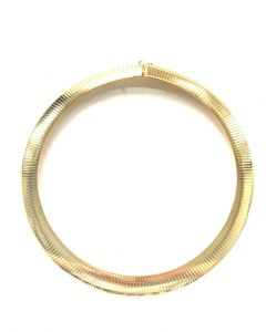 14Kt Plated Omega Choker Necklace