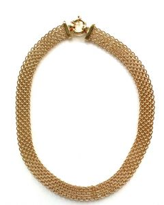 18Kt Plated 15mm Mesh Necklace