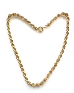 18Kt Plated 8mm Solid Rope Necklace