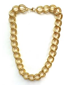 18Kt Plated Fancy Dbl Link Necklace