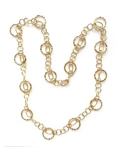 18Kt Plated Circle Necklace