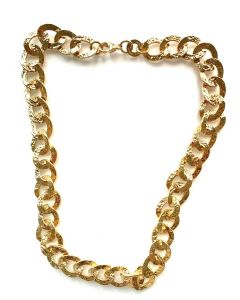 18Kt Plated 3+1 Oval Link Necklace