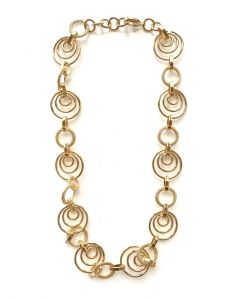 18Kt Plated Geometric Circle Necklace