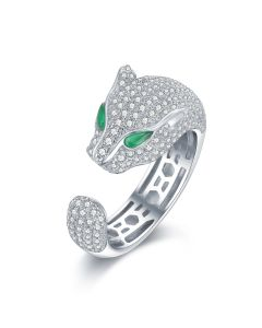 SS Green-Eye Panther Ring